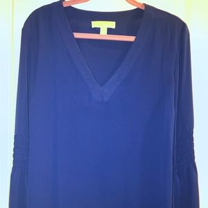 MK Royal blue tunic with bell sleeves